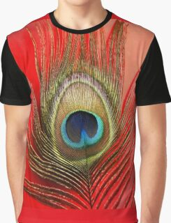 Peacock Feather Graphic T-Shirt