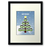 VW Camper Christmas Happy Holidays Framed Print