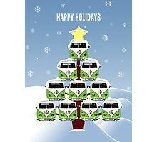 VW Camper Christmas Happy Holidays Photographic Print