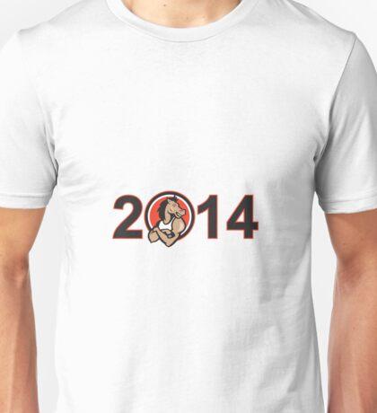 Year of Horse 2014 Mascot Unisex T-Shirt