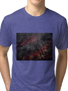 December Sunset (1670) Tri-blend T-Shirt