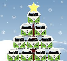VW Camper Christmas Let It Snow by splashgti