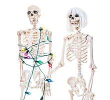 Captive Christmas Skeleton by Brenda Carson