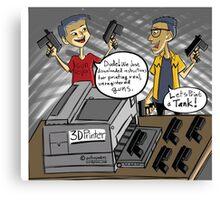 3D Printed Guns! Canvas Print