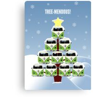 VW Camper Christmas Treemendous Canvas Print
