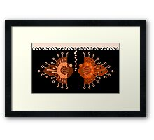 Tin Fish Black Framed Print