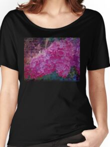 Vintage Lilacs floral garden nature art Women's Relaxed Fit T-Shirt