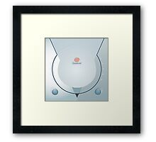 Sega Dreamcast console artwork Framed Print