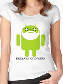 Sigmund Freud Android Women's Fitted Scoop T-Shirt