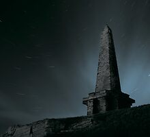 Stoodley Pike at Night by fotohebden