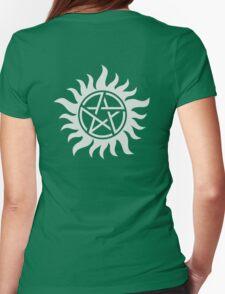 Supernatural Pentagram Womens Fitted T-Shirt