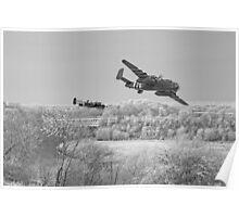 B25 Strike - Mono Poster