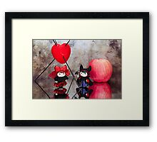 Maleficent and the Queen of Hearts Framed Print