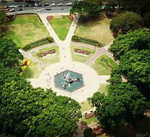 Hyde Park Gardens from the top. by Vicki Childs