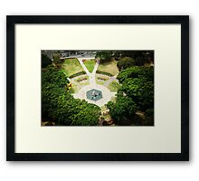 Hyde Park Gardens from the top. Framed Print