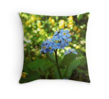 Blue blossom flower Throw Pillow