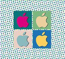 Apple Pop Art (Phone Cases) 2 by DarKJuubi