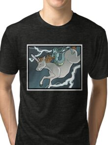 Chainsaw Unicorn and Modest Medusa Tri-blend T-Shirt