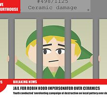 Link jailed for pottery damage (TV newsflash) by mitya33