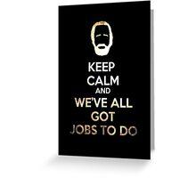 Hershel's Keep Calm Greeting Card