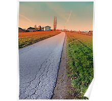 Country road into beautiful scenery | landscape photography Poster