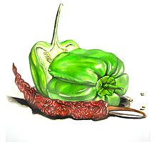 Capsicum & Chillies Photographic Print