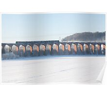Viaduct in the snow Poster