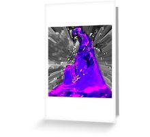 dark side in purple Greeting Card