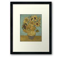 Vincent Van Gogh  - Sunflowers , Impressionism , Fine Art Framed Print