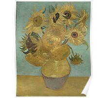 Vincent Van Gogh  - Sunflowers , Impressionism , Fine Art Poster