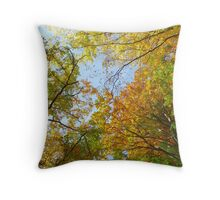Treetops in autumn Throw Pillow
