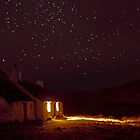 Stargazing at Black Rock Cottage, Glencoe, Scotland by David Alexander Elder
