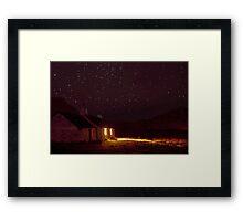 Stargazing at Black Rock Cottage, Glencoe, Scotland Framed Print