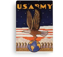 US Army Pre WW2 Poster Canvas Print