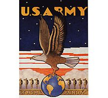 US Army Pre WW2 Poster Photographic Print