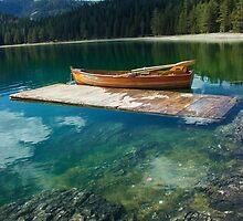 Boat on the Lake by JuliaRokicka