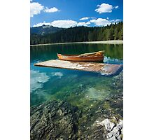 Boat on the Lake Photographic Print