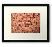 Adobe Bricks Framed Print