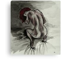 The red-haired woman Canvas Print