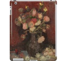 Vincent Van Gogh  - Vase with Chinese asters and gladioli, 1886 iPad Case/Skin