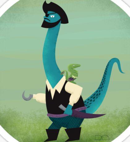 Captain Salty the pirate dinosaur Sticker
