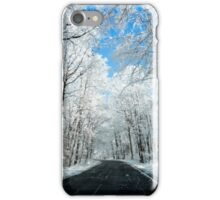 Snowy Winter Road Scene iPhone Case/Skin