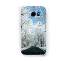 Snowy Winter Road Scene Samsung Galaxy Case/Skin