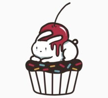 Chubby Bunny on a cupcake Kids Clothes