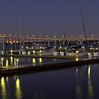 harbor lights by Robert Brown