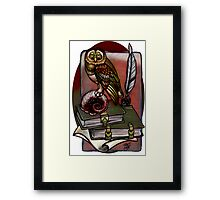 a more subdued owl. Framed Print