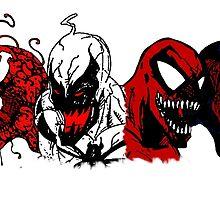 Symbiote Rushmore by budwick5750