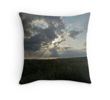 Coulds with sunrays  Throw Pillow
