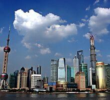 Pudong Skyline, Shanghai by DaveLambert