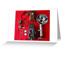 Rolleiflex Equipment Greeting Card